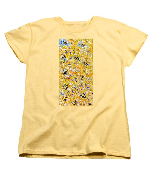Ode To Bees.. Women's T-Shirt (Standard Cut) by Cristina Mihailescu