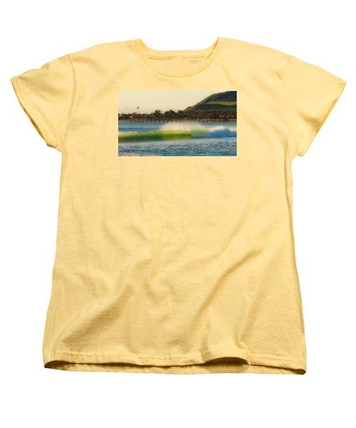 Offshore Wind Wave And Ventura, Ca Pier Women's T-Shirt (Standard Cut)
