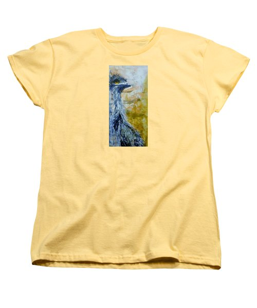 Women's T-Shirt (Standard Cut) featuring the painting Old Man Emu by Lyn Olsen
