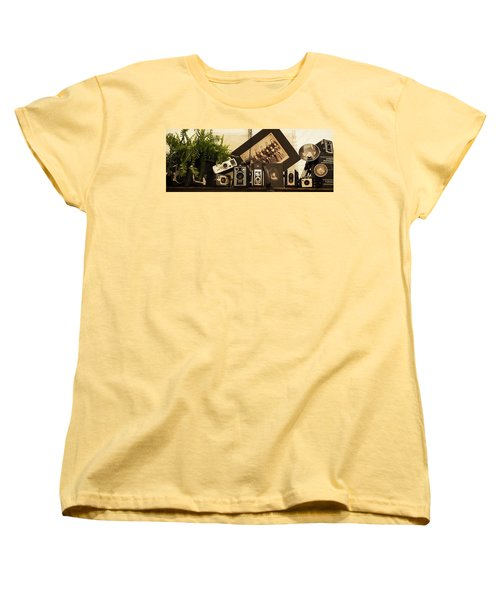 Women's T-Shirt (Standard Cut) featuring the photograph Old Time Photography by Cathy Donohoue