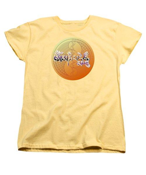 Om Mani Padme Hum Women's T-Shirt (Standard Cut) by Robert G Kernodle