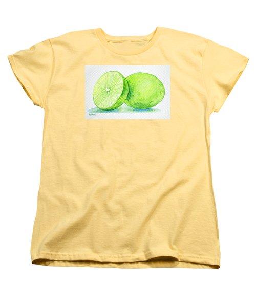 One And A Half Limes Women's T-Shirt (Standard Cut) by Rebecca Davis
