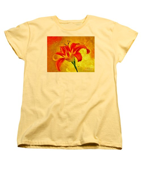 Women's T-Shirt (Standard Cut) featuring the photograph One Tigerlily by Marsha Heiken