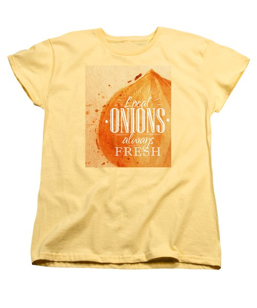 Onion Women's T-Shirt (Standard Cut) by Aloke Creative Store