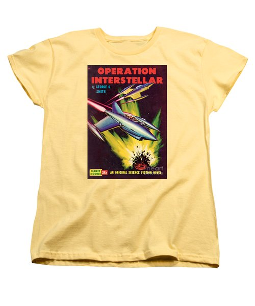 Women's T-Shirt (Standard Cut) featuring the painting Operation Interstellar by Malcolm Smith