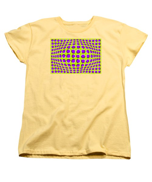 Optical Illusion The Ball Women's T-Shirt (Standard Cut) by Sumit Mehndiratta