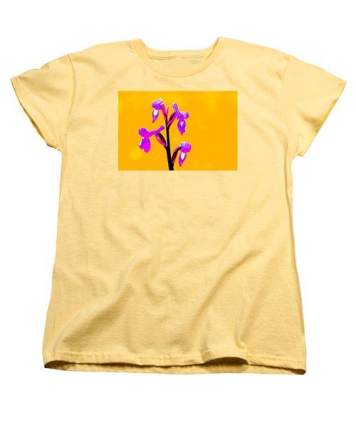 Orange Champagne Orchid Women's T-Shirt (Standard Cut) by Richard Patmore