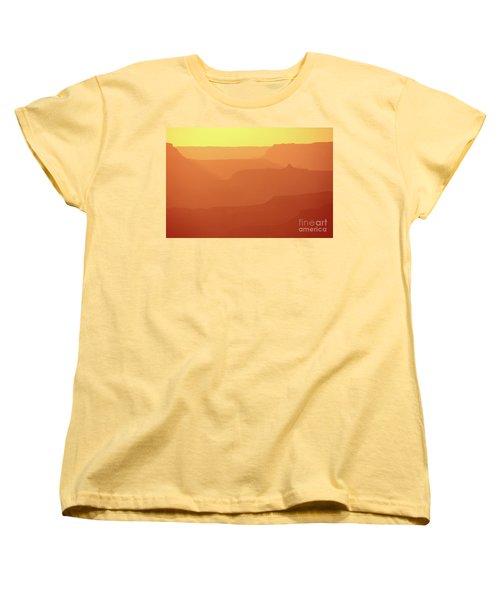 Orange Sunset At Grand Canyon Women's T-Shirt (Standard Cut) by RicardMN Photography