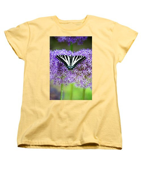 Women's T-Shirt (Standard Cut) featuring the photograph Oregon Swallowtail by Bonnie Bruno