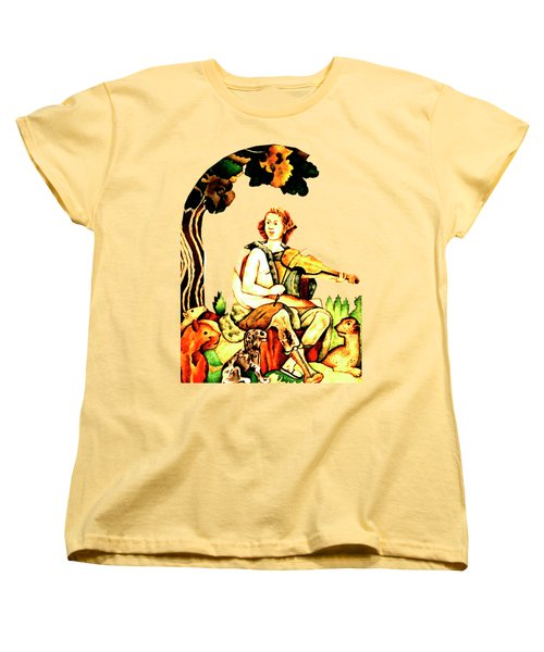 Orpheus Women's T-Shirt (Standard Cut) by Asok Mukhopadhyay
