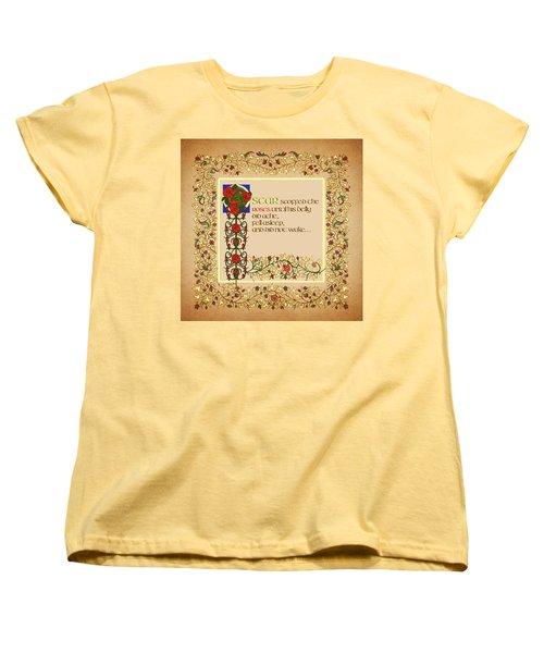 Women's T-Shirt (Standard Cut) featuring the digital art Oscar Alternative Ending by Donna Huntriss