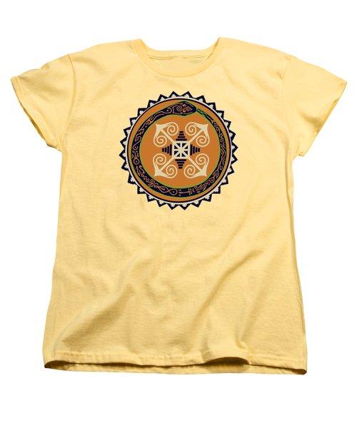 Ouroboros With Devine Fire Wheel Women's T-Shirt (Standard Cut) by Vagabond Folk Art - Virginia Vivier