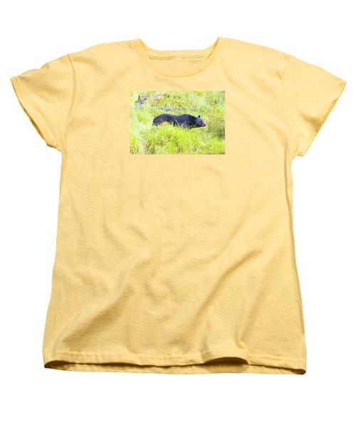 Out Standing In His Field Women's T-Shirt (Standard Cut) by Harold Piskiel