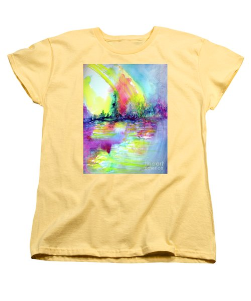 Over The Rainbow Women's T-Shirt (Standard Cut) by Allison Ashton