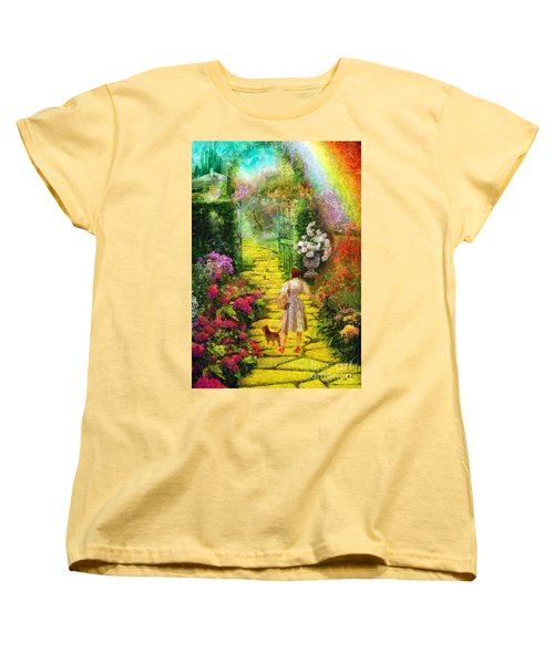 Over The Rainbow Women's T-Shirt (Standard Cut) by Mo T