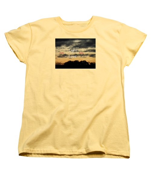 Women's T-Shirt (Standard Cut) featuring the photograph Overpowering Hate by David Norman