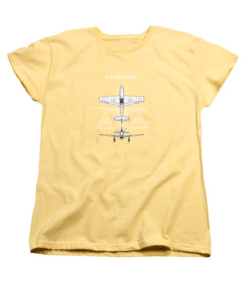 P-51 Mustang Women's T-Shirt (Standard Cut) by Mark Rogan
