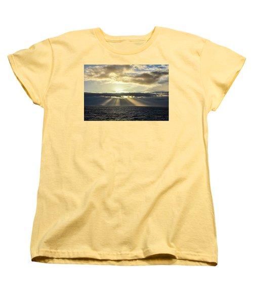 Pacific Sunset Women's T-Shirt (Standard Cut) by Allen Carroll