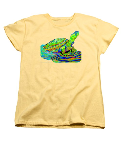 Painted Turtle Women's T-Shirt (Standard Cut) by Rebecca Wang