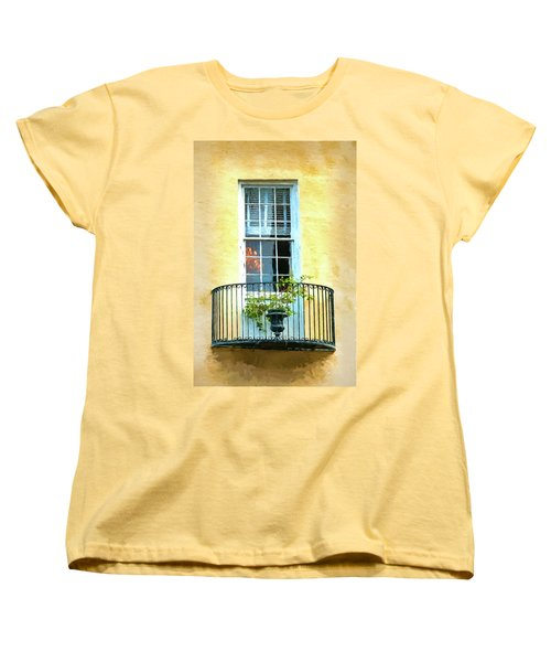 Painterly Window And Balcony Women's T-Shirt (Standard Cut) by Gary Slawsky