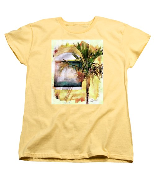 Palm And Window Women's T-Shirt (Standard Cut) by Robert Smith