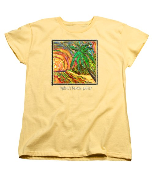 Palm Sunrise Sunset Women's T-Shirt (Standard Fit)