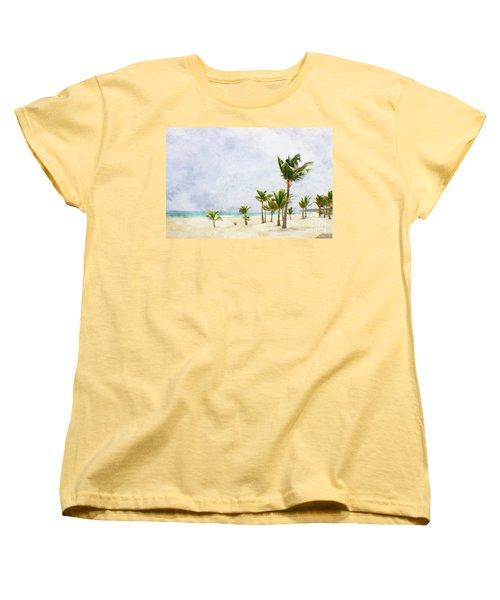 Palmtrees In Punt Cana Women's T-Shirt (Standard Cut)