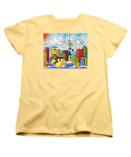 Pandas In Toronto Women's T-Shirt (Standard Cut) by Oiyee At Oystudio
