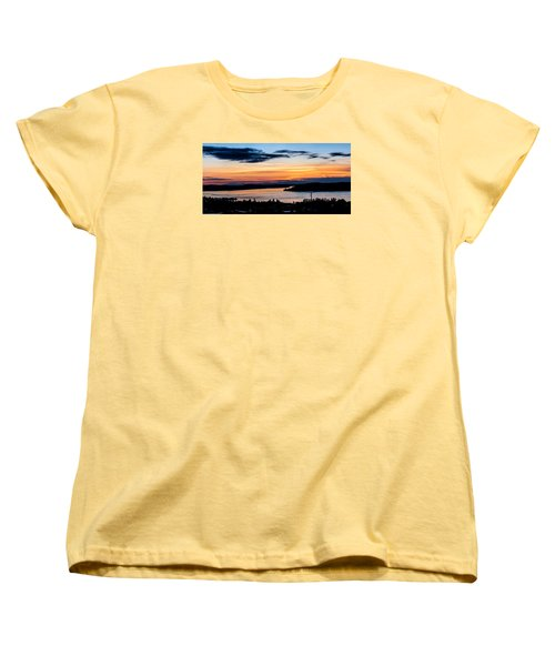 Panoramic Sunset Over Hail Passage  Women's T-Shirt (Standard Cut) by Rob Green