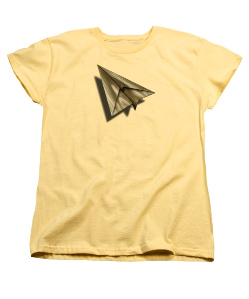 Paper Airplanes Of Wood 18 Women's T-Shirt (Standard Cut) by YoPedro