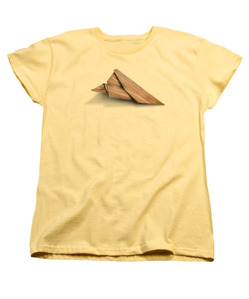 Paper Airplanes Of Wood 2 Women's T-Shirt (Standard Cut) by Yo Pedro