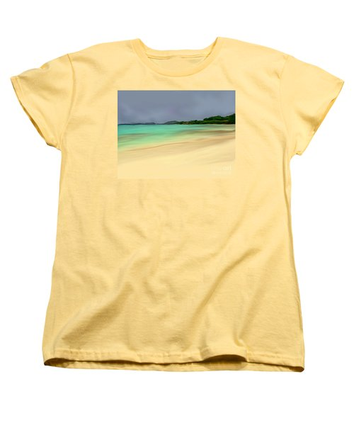 Women's T-Shirt (Standard Cut) featuring the digital art Paradise by Anthony Fishburne