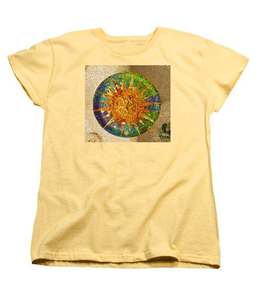 park Guell, Barcelona, Spain Women's T-Shirt (Standard Cut) by Anastasy Yarmolovich