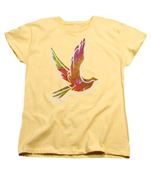 Part Of Peace Dove Women's T-Shirt (Standard Cut) by Priscilla Wolfe