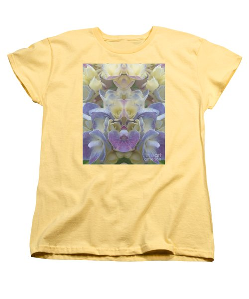 Pastel Blooms Women's T-Shirt (Standard Cut) by Christina Verdgeline