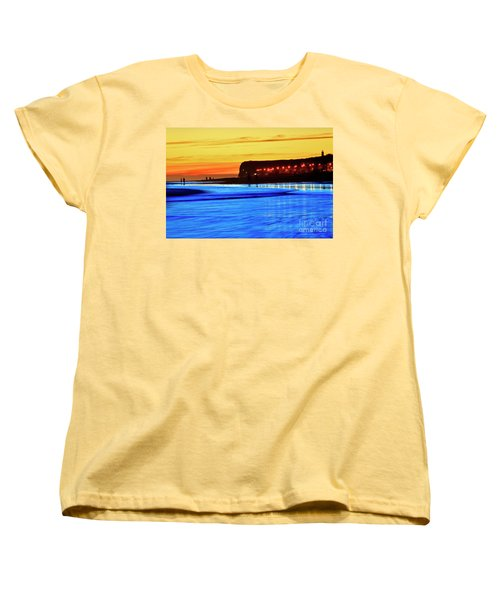 Women's T-Shirt (Standard Cut) featuring the photograph Patagonia Beach. by Bernardo Galmarini
