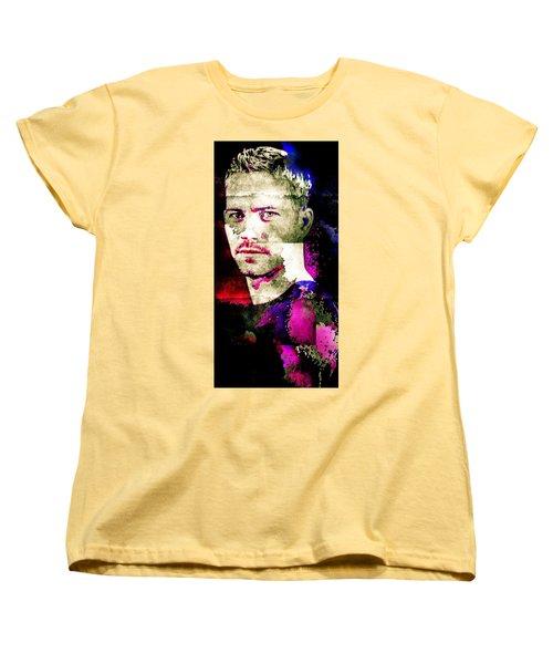 Paul Walker Women's T-Shirt (Standard Cut) by Svelby Art