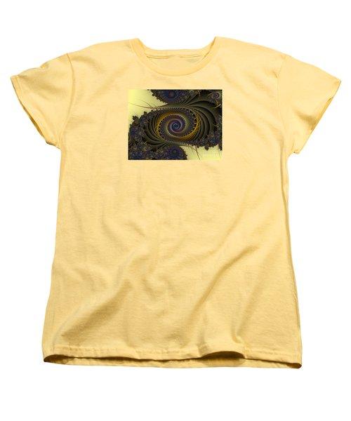 Women's T-Shirt (Standard Cut) featuring the digital art Peacock by Karin Kuhlmann