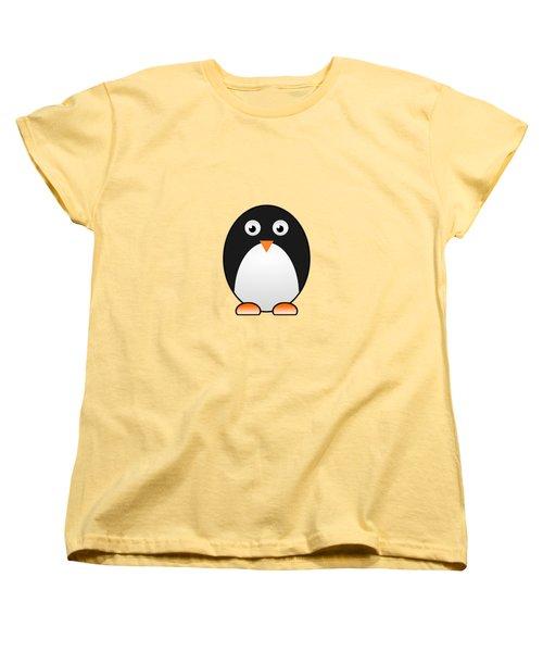 Penguin - Birds - Art For Kids Women's T-Shirt (Standard Cut) by Anastasiya Malakhova
