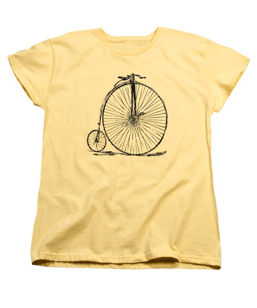 Penny-farthing 1867 High Wheeler Bicycle Vintage Women's T-Shirt (Standard Cut) by Nikki Marie Smith