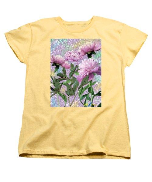 Peonies 6 Women's T-Shirt (Standard Cut) by John Selmer Sr