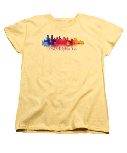 philadelphia PA Skyline TShirts and Apparal Women's T-Shirt (Standard Cut) by Loretta Luglio