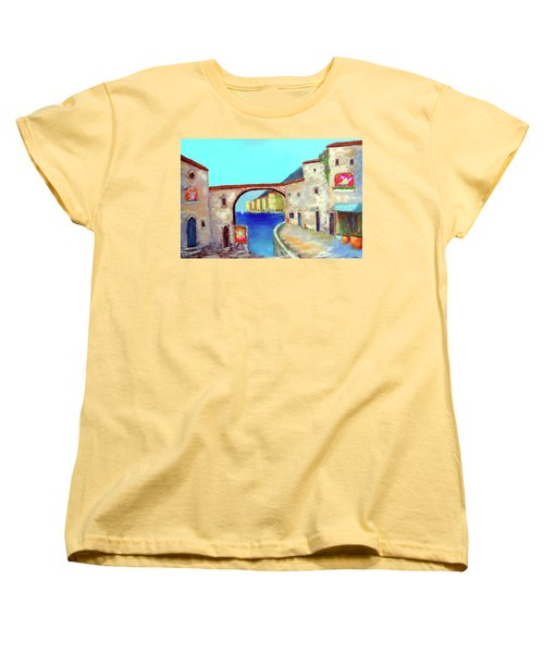 Piazza Del La Artista Women's T-Shirt (Standard Cut) by Larry Cirigliano