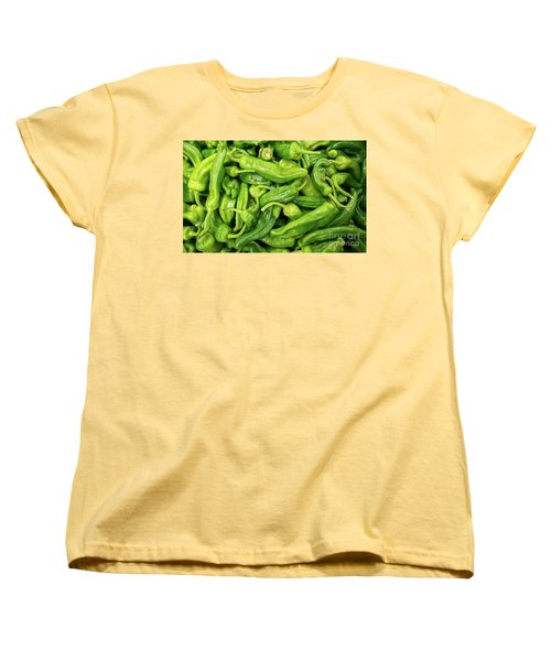 Women's T-Shirt (Standard Cut) featuring the photograph Picked A Peck Of Peppers by Sandy Molinaro