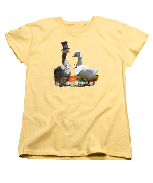 Pilgrim Ducks Women's T-Shirt (Standard Cut) by Gravityx9 Designs
