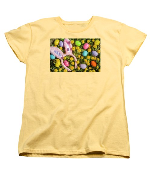 Women's T-Shirt (Standard Cut) featuring the photograph Pink Easter Bunny Ears by Teri Virbickis