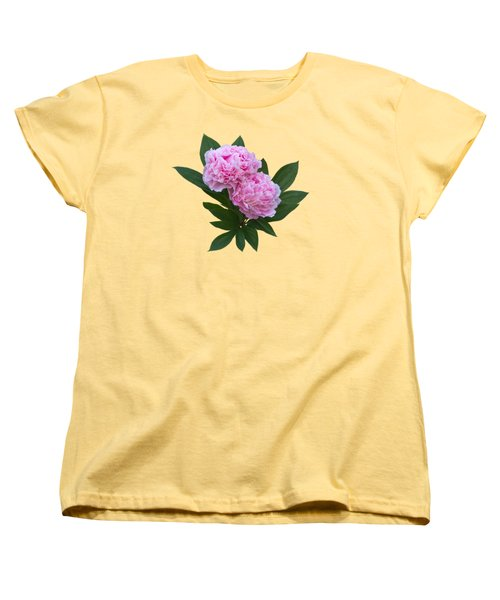 Women's T-Shirt (Standard Cut) featuring the photograph Pink Peonies by Jane McIlroy