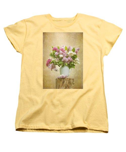Pitcher Of Lilacs Women's T-Shirt (Standard Cut) by Patti Deters