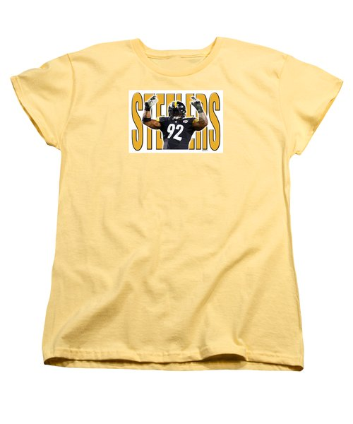 Women's T-Shirt (Standard Cut) featuring the digital art Pittsburgh Steelers by Stephen Younts