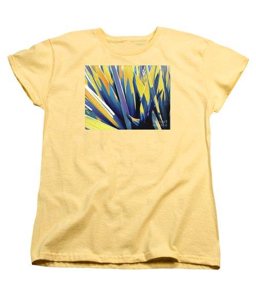 Plant Burst - Yellow Women's T-Shirt (Standard Cut) by Rebecca Harman